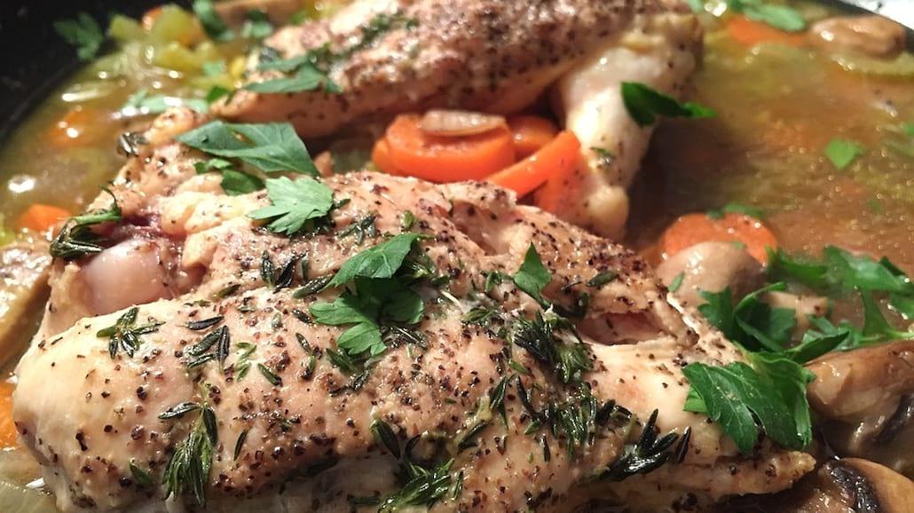 Przepis na aromatycznego kurczaka w musztardzie bez tłuszczu