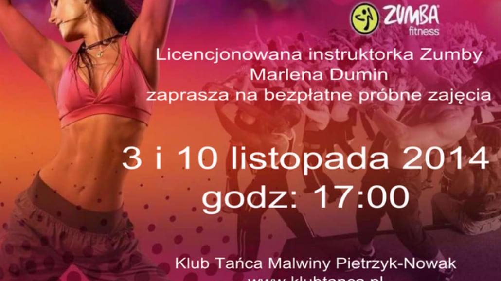 Bezpłatne zajęcia Zumby w Klubie Tańca
