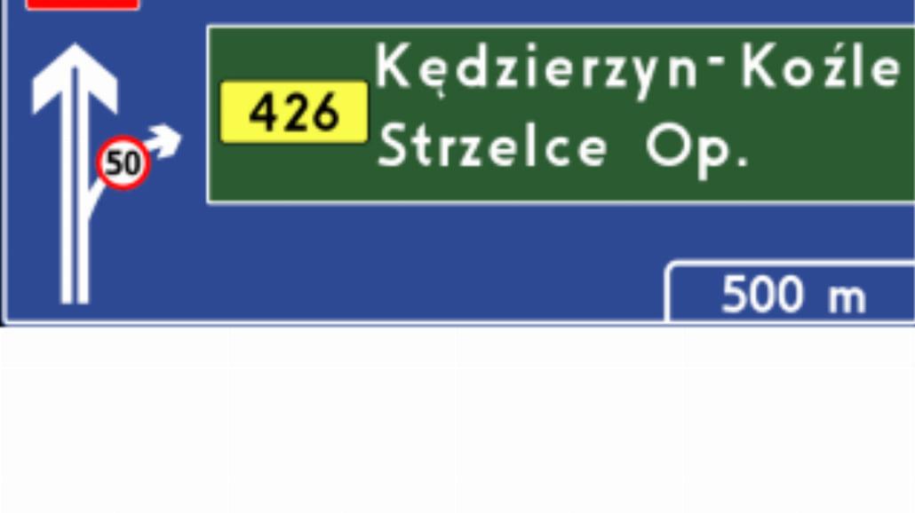 """E-1a """"tablica przeddrogowskazowa na autostradzie"""""""