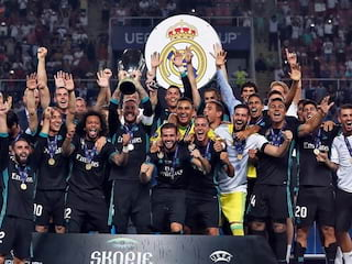 Superpuchar Europy dla Realu Madryt! - Zinedine Zidane, Jose Mourinho, Europa, Liga Mistrzów, Liga Europejska, Trofeum. Manchester United