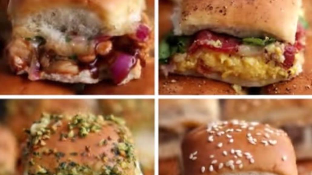 4 przepisy na mini burgery. Rewelacyjny filmik instruktażowy! [WIDEO]