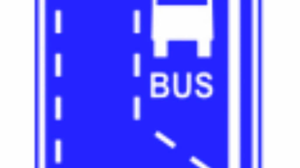 """D-11 """"początek pasa ruchu dla autobusów"""""""