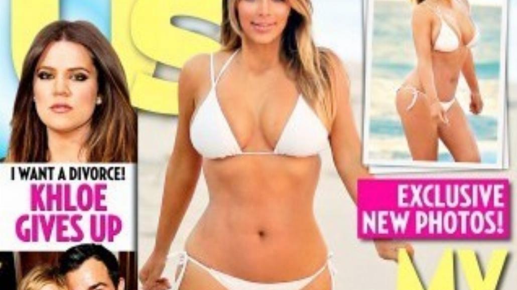 Kim Kardashian pierwszy raz po ciąży w bikini
