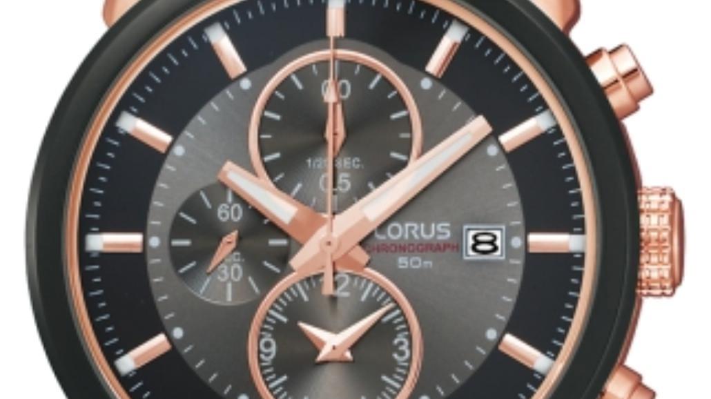Czarno-różowy zegarek od Lorusa