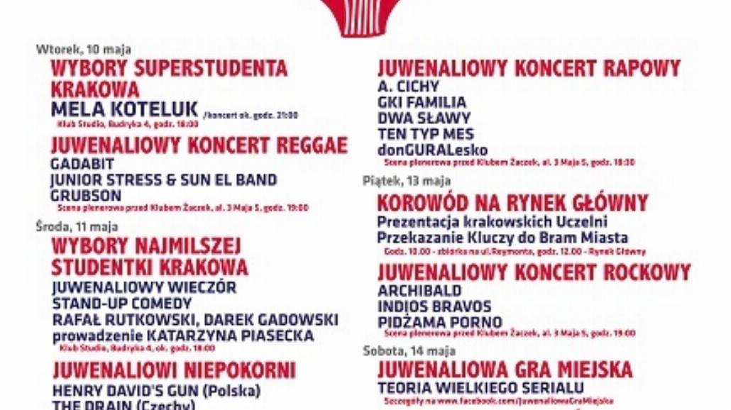 Od 10 maja Juwenalia w Krakowie!