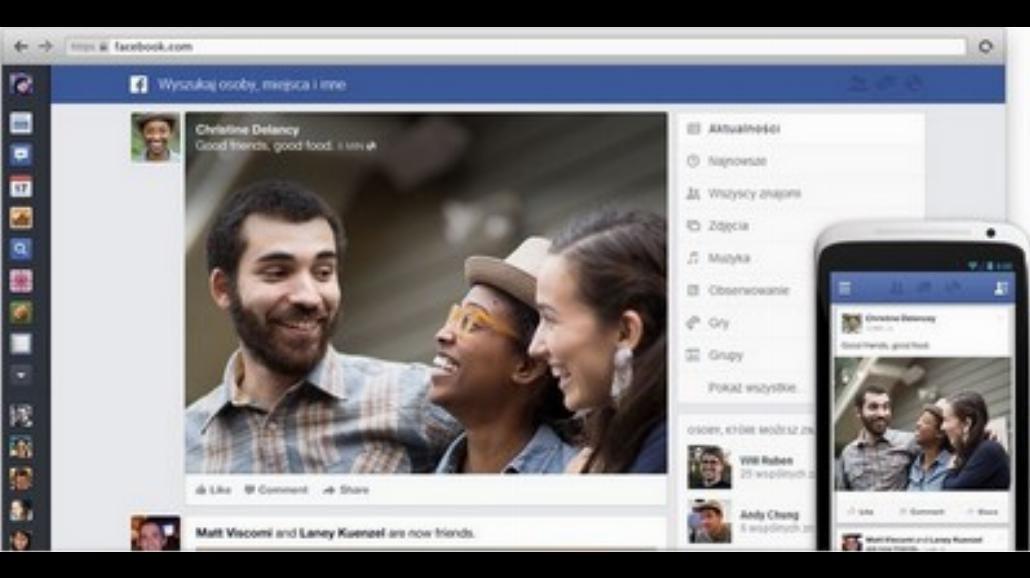 Tak będzie wkrótce wyglądał Facebook