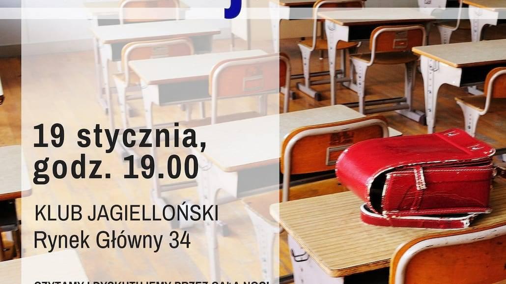 Noc Książki - przyjdź na pierwsze w tym roku spotkanie w Klubie Jagiellońskim