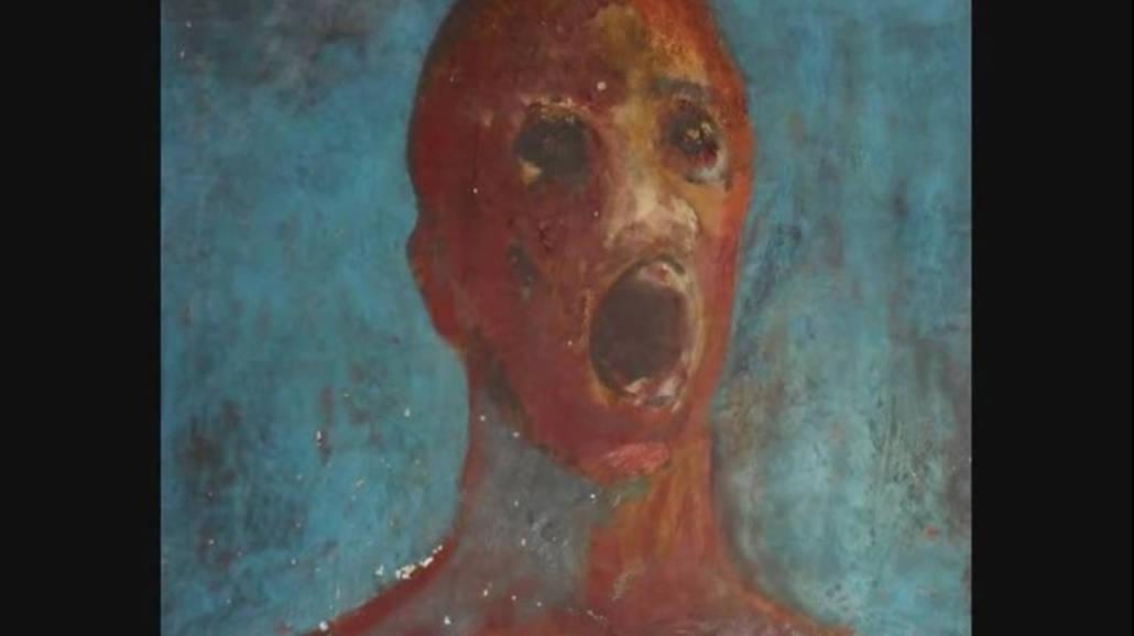 The Anguished man - opÄ™tany obraz namalowany krwiÄ…. Zobaczcie przeraÅźajÄ…ce nagranie! [WIDOE]