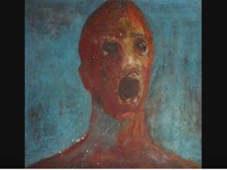 The Anguished man - opętany obraz namalowany krwią. Zobaczcie przerażające nagranie! [WIDEO] - obraz, opętany obraz, filmik, film, yt, horror