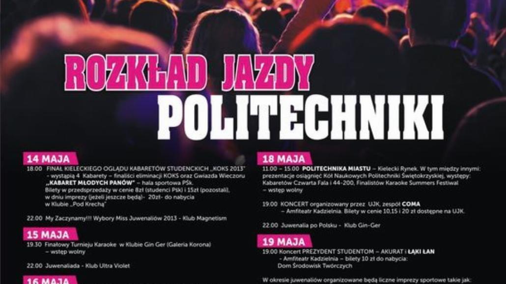 Juwenalia Politechniki Świętokrzyskiej 2013