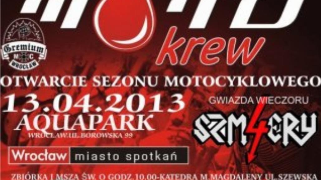 Motokrew 2013: Oddaj krew obok Aqua Parku