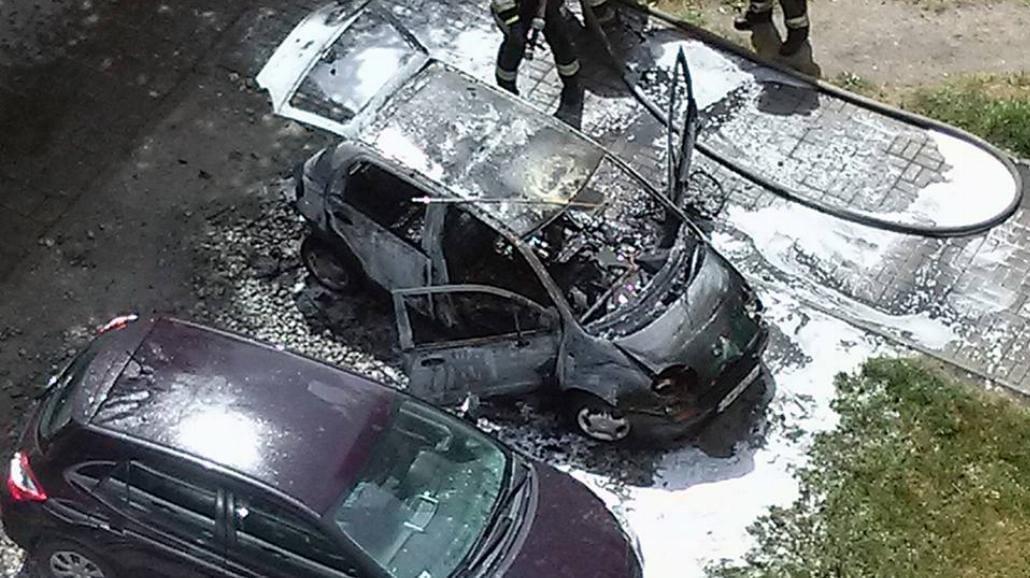 Z ostatniej chwili! Wrocław: Pożar samochodu na ul. Skwierzyńskiej [WIDEO]