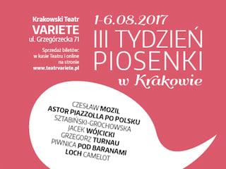 Nadchodzi trzecia edycja festiwalu Tydzień Piosenki w Krakowie - przegląd, wydarzenie, Teatr Variete