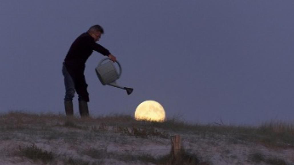 Francuza zabawy z księżycem (FOTO)