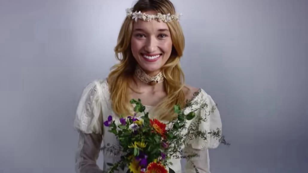 100 lat mody ślubnej w 3 minuty!