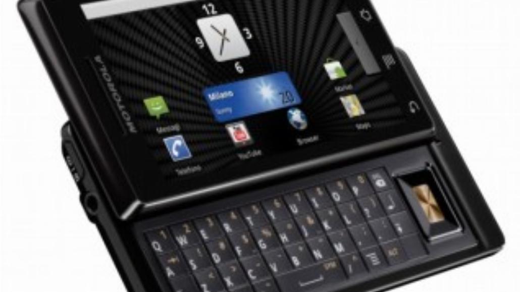 Motorola Milestone - najcieńszy slider świata