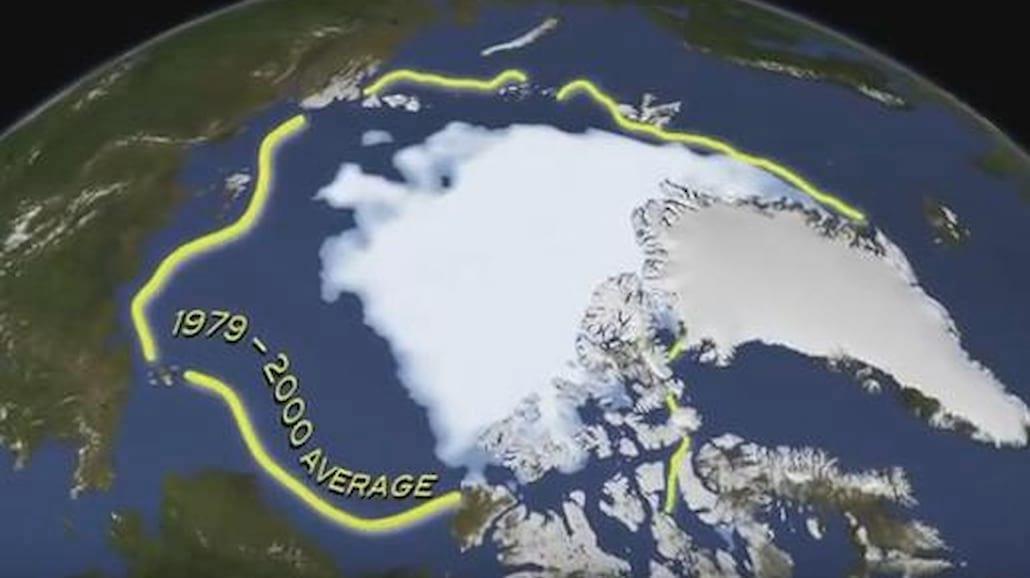 Mała pokrywa lodowa na Arktyce!