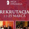 """Trwa rekrutacja do siódmej edycji """"Akcji Dyplomacji"""" - nagrody, projekt, esej, dypomacja publiczna"""