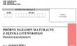 Próbna matura 2020 - arkusz CKE - j. litewski rozszerzony