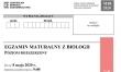 Matura z biologii 2020 - arkusz cke - poziom rozszerzony