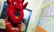 Maskotka Devils odwiedziła DSW