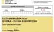 Próbna matura CKE 2021 - chemia rozszerzona - Arkusz