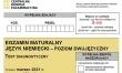Próbna matura CKE 2021 - j. niemiecki dwujęzyczny - Arkusz