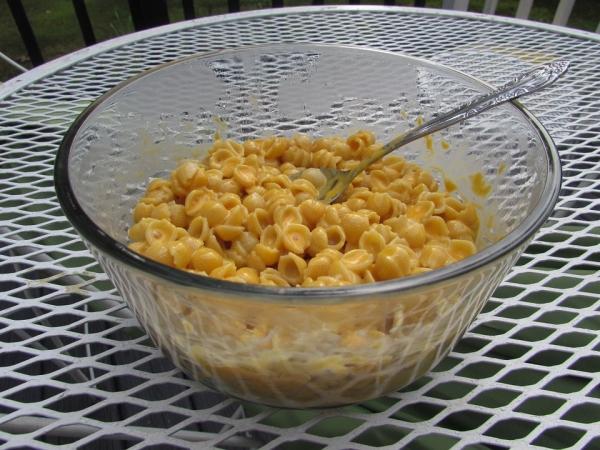 Bardzo często przygotowywanym daniem jest macaroni&cheese - ser cheddar mieszany z makaronem