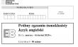 Arkusz próbnego egzaminu ósmoklasisty 2020 z j. angielskiego