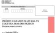 Próbna matura 2020 - arkusz CKE - j. białoruski podstawowy