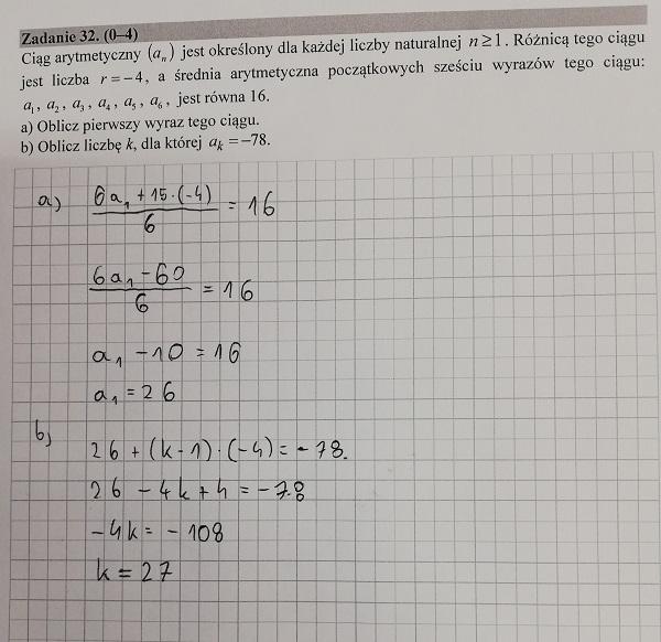 Matura podstawowa z matematyki 2019 zad. 32 [rozwiązanie]