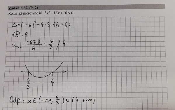 Matura podstawowa z matematyki 2019 zad. 27 [rozwiązanie]