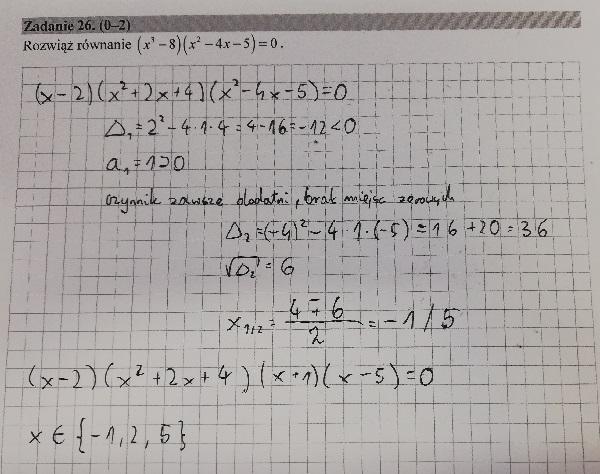 Matura podstawowa z matematyki 2019 zad. 26 [rozwiązanie]