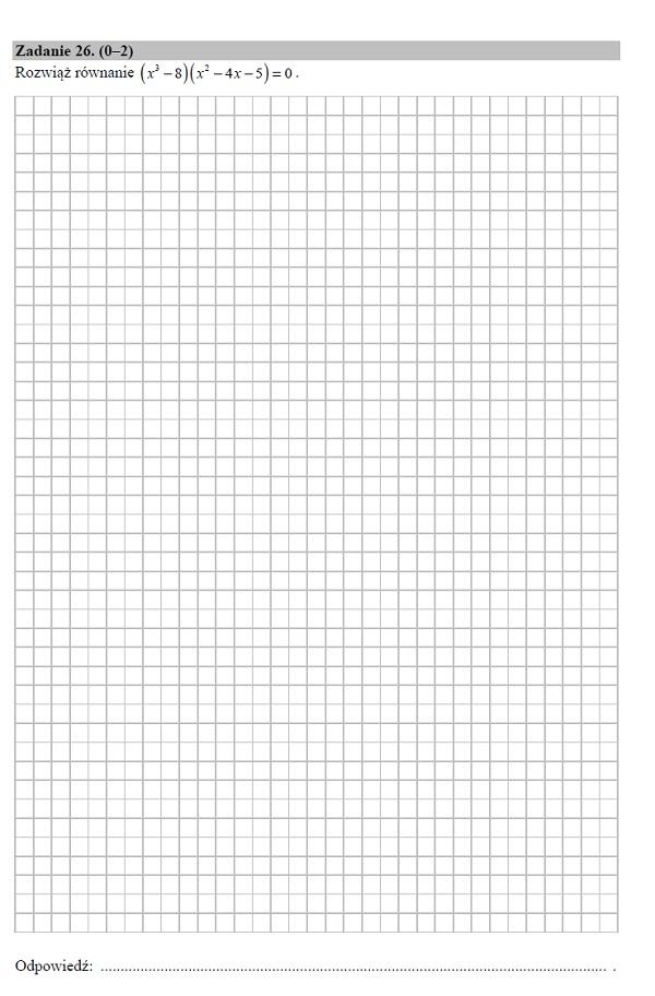 Matura podstawowa z matematyki 2019 zad. 26