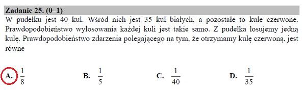 Matura podstawowa z matematyki 2019 zad. 25 [rozwiązanie]