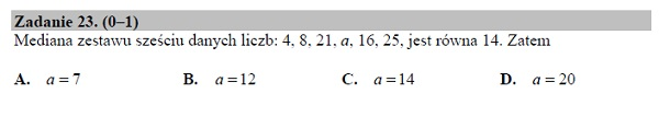 Matura podstawowa z matematyki 2019 zad. 23