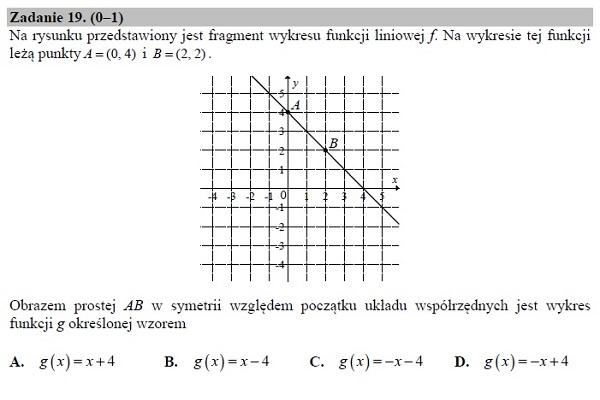 Matura podstawowa z matematyki 2019 zad. 19