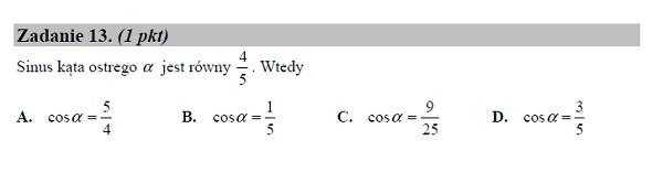 Matura podstawowa z matematyki 2019 zad. 13 [rozwiązanie]
