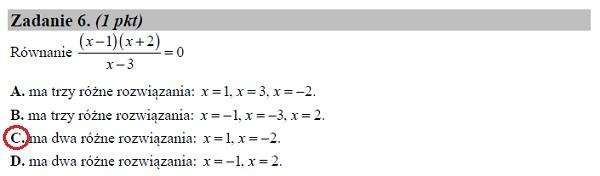 Matura podstawowa z matematyki 2019 zad. 6 [rozwiązanie]