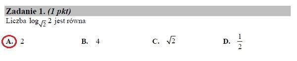 Matura podstawowa z matematyki 2019 zad. 1 [rozwiązanie]