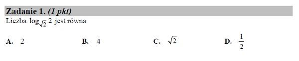 Matura podstawowa z matematyki 2019 zad. 1