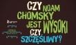Czy Noam Chomsky jest wysoki czy szczęśliwy? - polski plakat