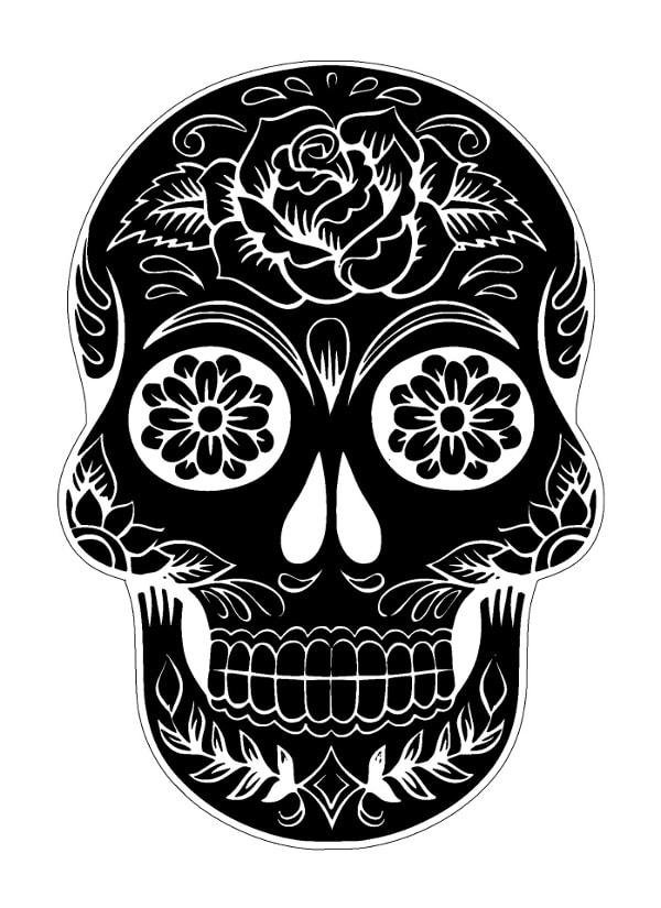 Czaszka - wzory męskich tatuaży