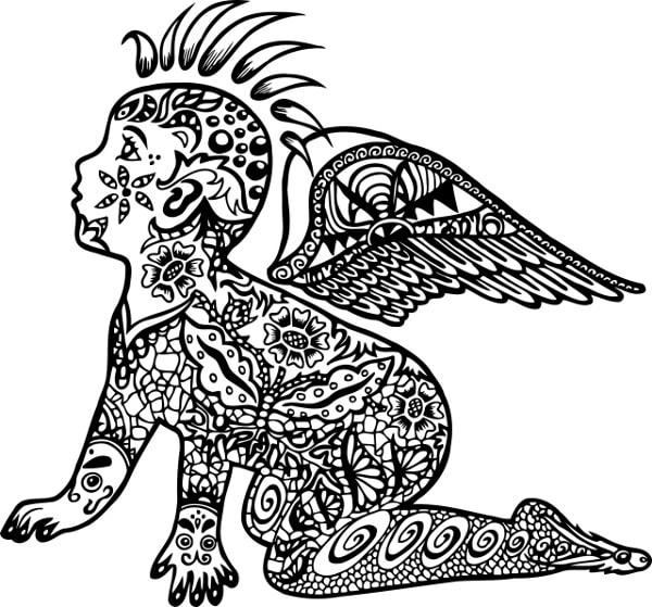 Dziecko - wzory męskich tatuaży