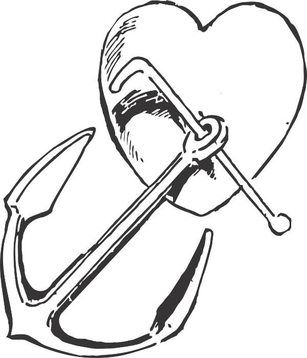 Serce - wzory męskich tatuaży