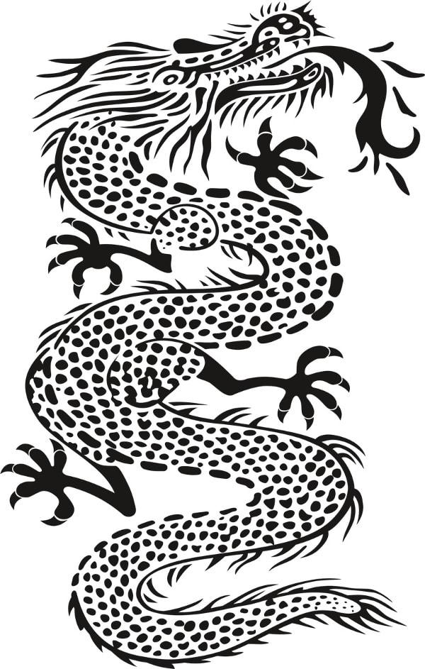Smok - wzory męskich tatuaży