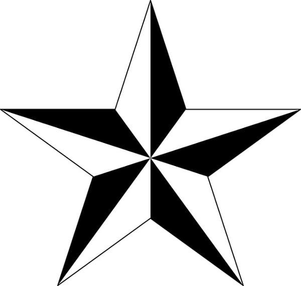Gwiazda - wzory damskich tatuaży