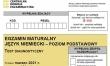 Próbna matura CKE 2021 - j. niemiecki podstawowy - Arkusz