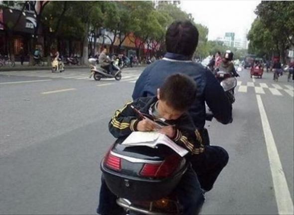 On na pewno zostanie pilnym studentem…