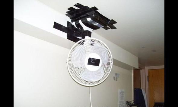 Taśma izolacyjna + pomysł=klimatzacja